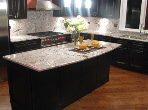 light granite kitchen countertops 20 beautiful dark cabinets light countertops design ideas