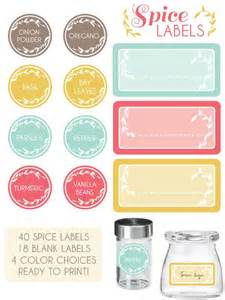 jar label templates spice jar labels spice jar labels and templates