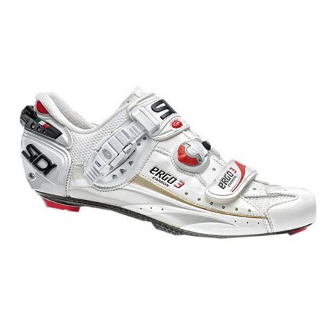 sidi cycling shoes sidi ergo 3 sp carbon s road cycling shoes 44 white