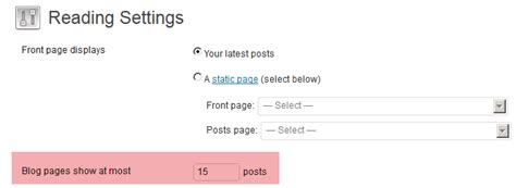 wordpress archive layout set post content limits for home blog archive pages