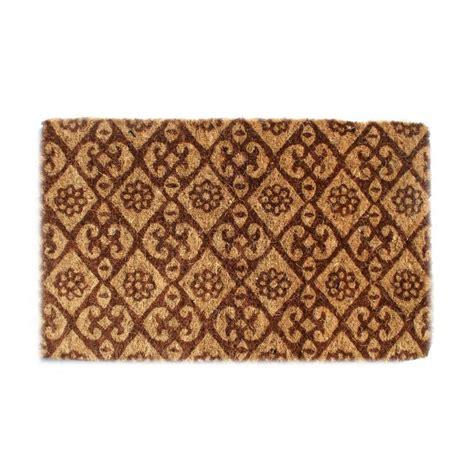 Fiber Doormat by Imports Dcor Outdoor Coconut Fiber Floral Door Mat 2 6 X
