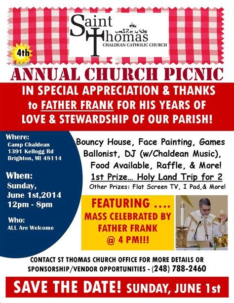picnic flyer template gt gt 16 beaufiful church picnic