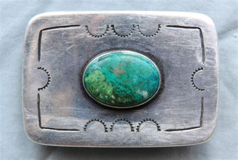 Handmade Western Belt Buckles - vintage american sterling silver handmade turquoise