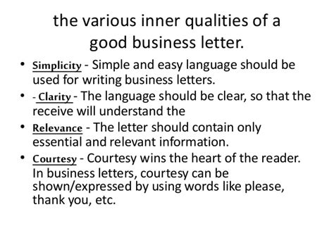 Business Letter Qualities cheap write my essay essential qualities of a