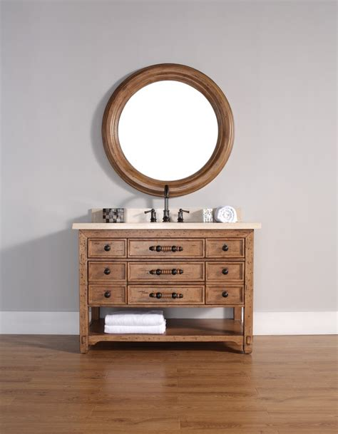 48 Inch Solid Wood Bathroom Vanity 48 Inch Single Sink Bathroom Vanity Solid Wood Honey Alder Finish