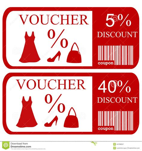 Voucher Promo 5 and 40 discount vouchers stock vector illustration of background elegance 44788057