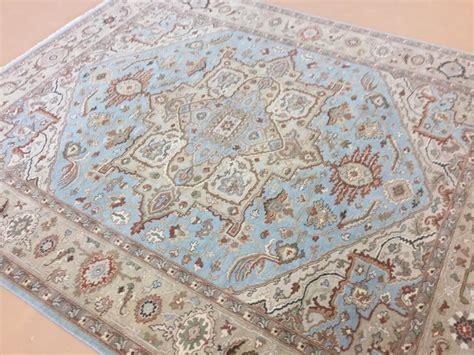 8x10 blue area rugs 8 x 10 light blue beige serapi geometric area rug knotted ebay