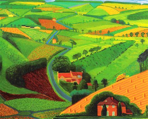 Landscape Pictures By David Hockney David Hockney Bigger Pictures Smaller Splash Orbit