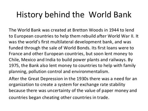 history world bank world bank ppt