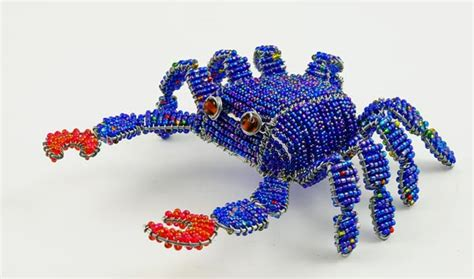 bead and wire animals wow imports beaded wire crab figurine sea animal
