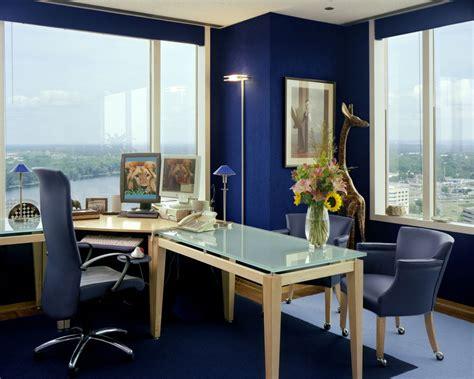 living room home office workspace furniture blue