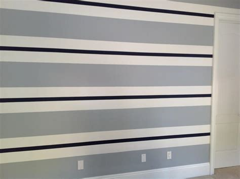 blue striped walls bloombety blue and white stripe paint ideas for walls