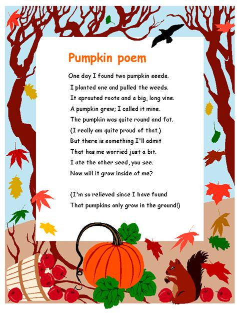 pumpkin poems patties classroom pumpkin cycles