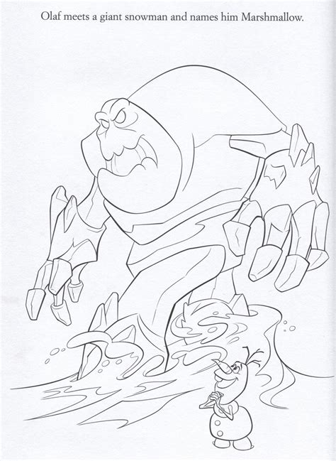 snow monster coloring page snow monster frozen coloring page coloring pages