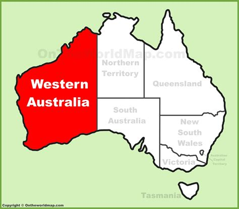 map of western australia western australia location on the australia map