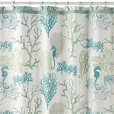 New coral reef 12pc shower curtain hooks sea horse star