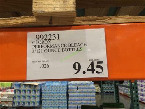 clorox performance bleach  ounce bottles costcochaser