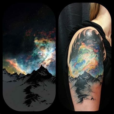 northern lights tattoo borealis by eric mills at deja vu