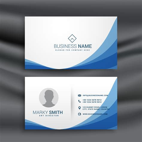 Simple Business Card Template by Blue Wave Simple Business Card Design Template