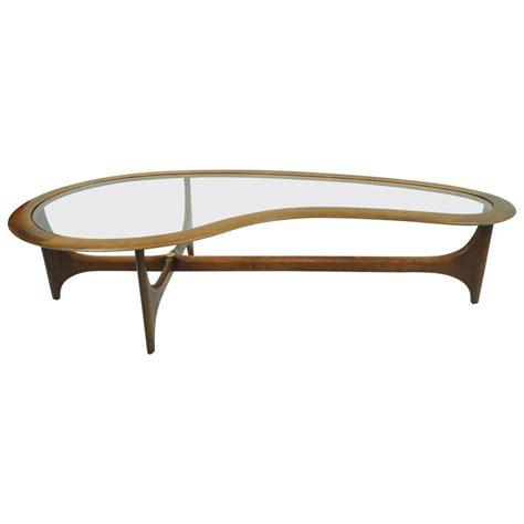 Glass Kidney Shaped Coffee Table Vintage Kidney Shaped Boomerang Walnut And Glass Coffee Table At 1stdibs