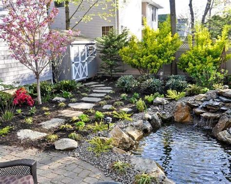 small garden with fish pond gardening and outdoors