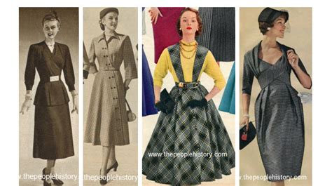 Clothes and men s and ladies fashions in the 1950 s prices and