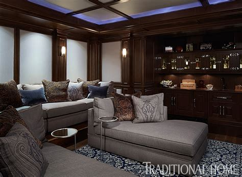 theatre room lounges chaise lounges and a provide le seating in the masculine media room photo werner