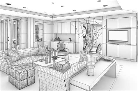 rendering interior design definition