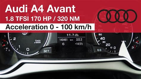Audi A4 1 8 Fuel Consumption by 2013 Audi A4 1 8 Tfsi Acceleration 0 100 Km H And Fuel