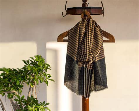 Pashmina Arabia Limited pashmina wool scarf black checks kop 225 i paar indian craft store