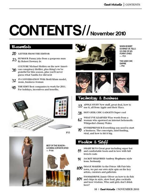 magazine layout contents magazine contents page layout index pinterest