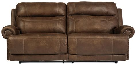 austere power reclining sofa signature design by ashley austere brown 2 seat