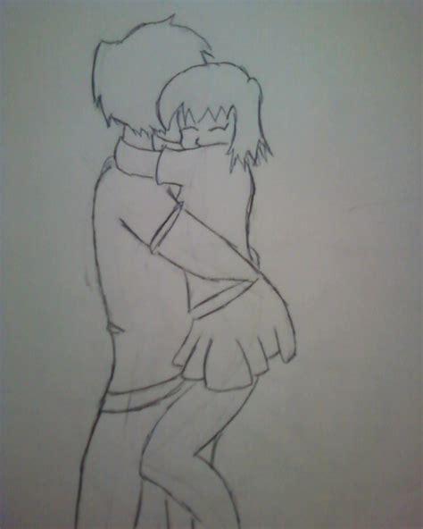 cute cuple hug and kissing sketch pics anime couple hug by harleyquinn249 on deviantart