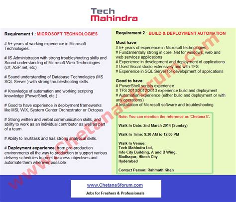 Spot Offer Letter In Hyderabad Experienced Walk In Tech Mahindra