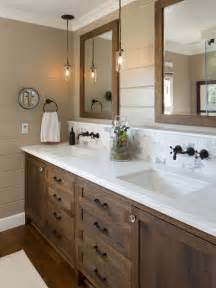 Ideas Bathroom farmhouse bathroom idea in san diego with dark wood cabinets brown