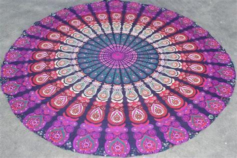 Bantal Sofa Mandala 1 hippie mandala roundie towels bohemian cotton sofa cover throw