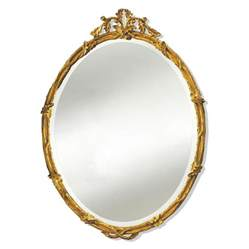 Home Decor Mirror acorn oval mirror gold 26x35 5 mirrors mirrors home