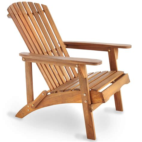 Patio Wooden Chairs Vonhaus Adirondack Chair Outdoor Garden Patio Pool Balcony Wooden Furniture Seat Ebay