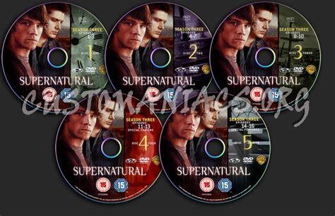 Dvd Supernatural Season 3 supernatural season 3 dvd label dvd covers labels by customaniacs id 48104 free