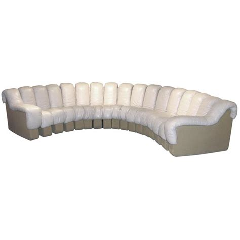sofa stopper quot non stop quot sofa in beige leather by desede