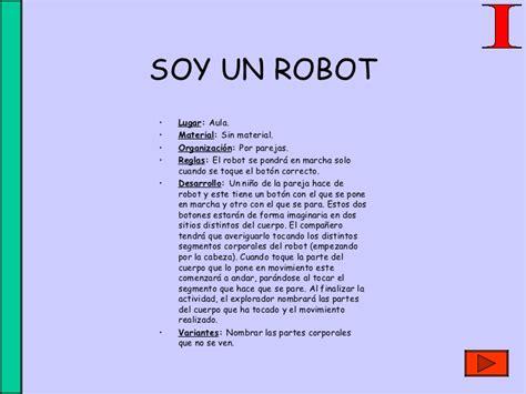 quien es un robot yo soy un robot cancion infantil letra educaci 211 n fisica juegos y canciones