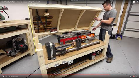shop benches workbench plans tommy s rolling workbench and miter saw