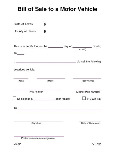 bill of sale template for a car auto bill of sale template tristarhomecareinc