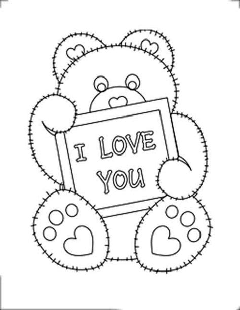 i love you beary much coloring page valentine hearts coloring sheet s dibujos para pintar y