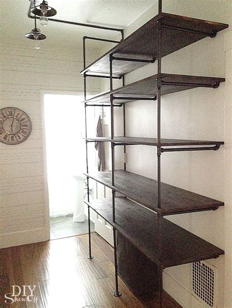 diy pipe shelving tips for a diy industrial pipe shelving unit
