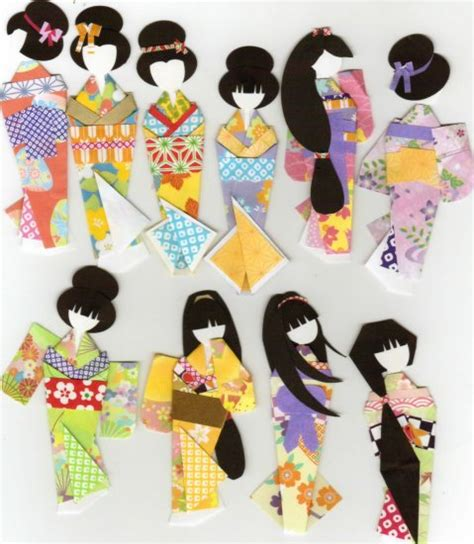 printable japanese paper dolls kimono paper doll book fancy ningyo forms washi origami