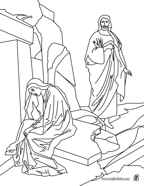 jesus resurrection coloring pages resurrection of jesus christ coloring pages hellokids com