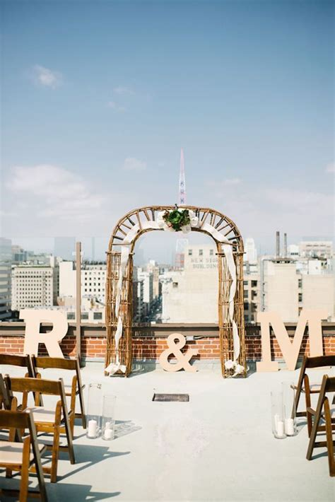 rooftop wedding in los angeles rooftop wedding ideas with style modwedding