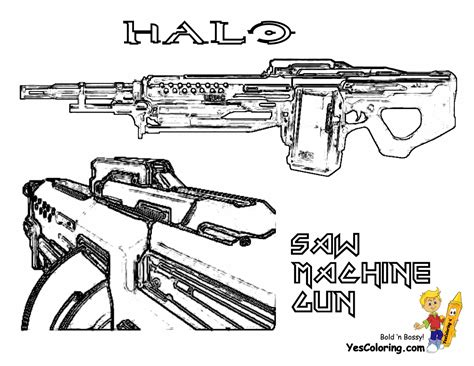 halo guns coloring pages of halo guns colouring pages page 3