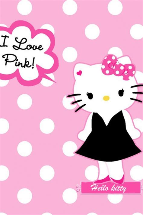 wallpaper hello kitty warna pink hello kitty pink wallpaper wallpapersafari